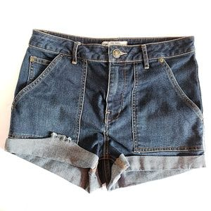 Free People High Waisted Jean Shorts 27